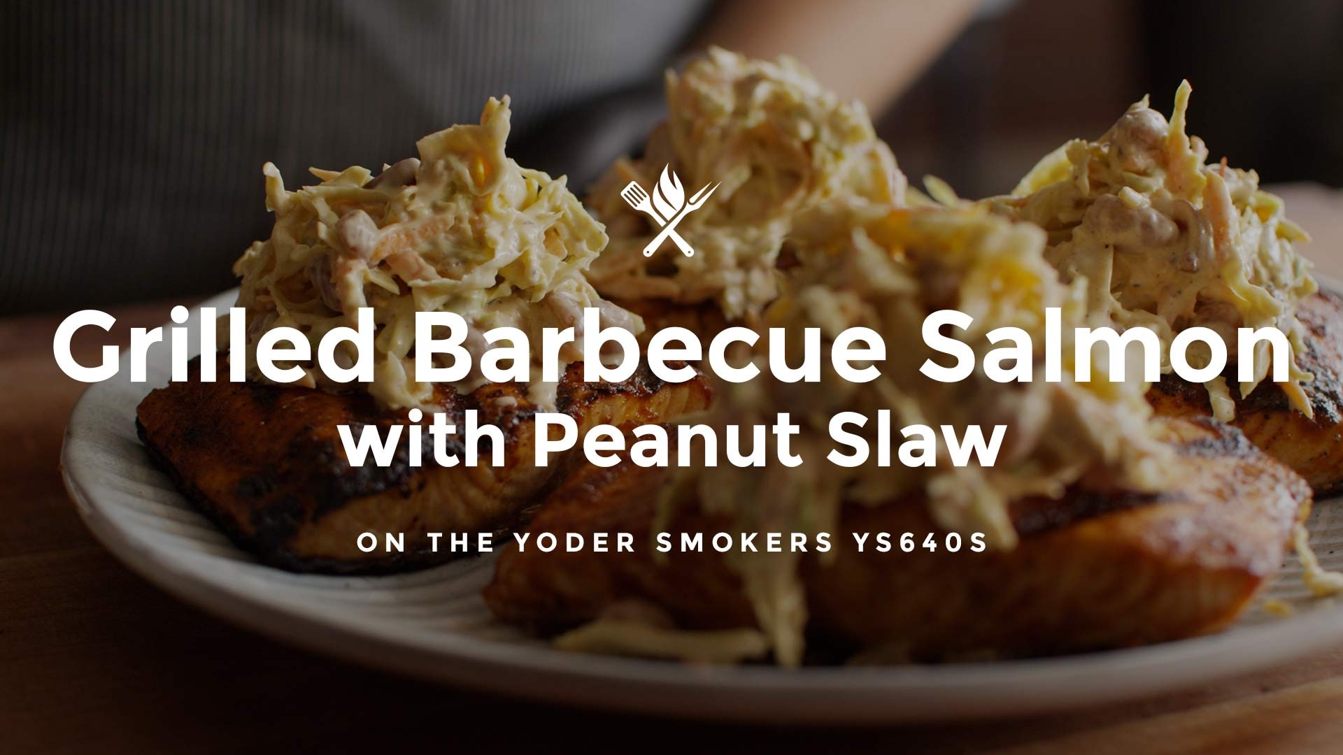 How to make Grilled Barbecue Salmon with Peanut Slaw