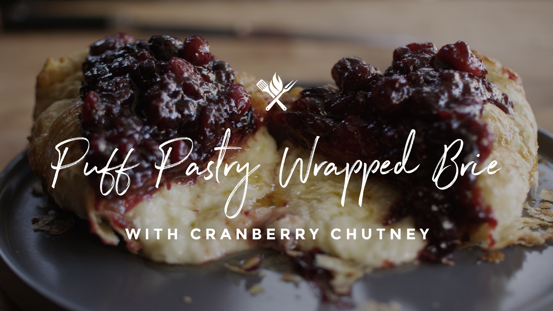 How to make Puff Pastry Wrapped Brie with Cranberry Chutney