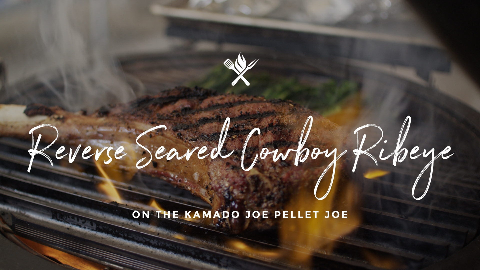 How to make a Reverse Seared Cowboy Ribeye on the Kamado Joe Pellet Joe