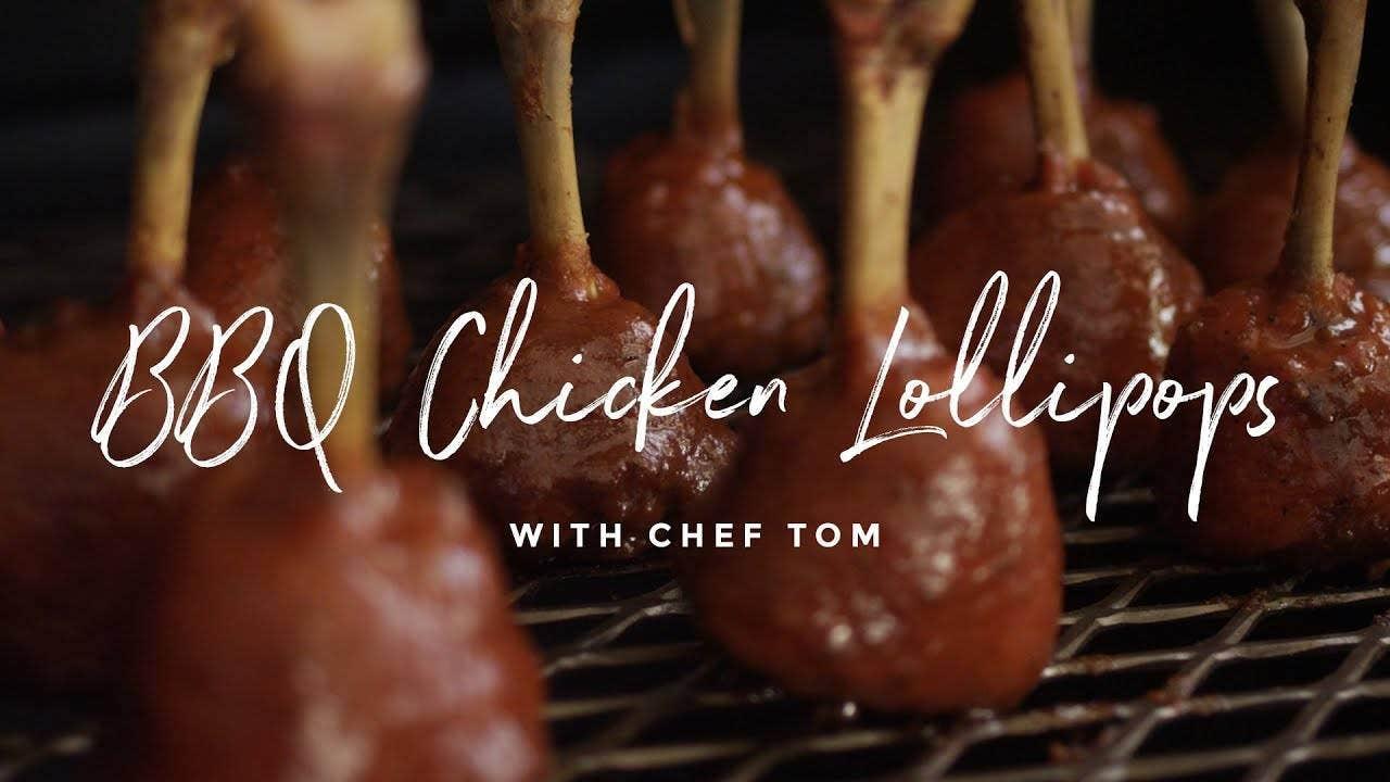 Barbecue Chicken Lollipops Recipe