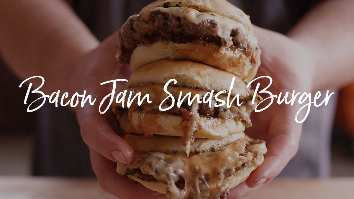 How to make a Bacon Jam Smash Burger