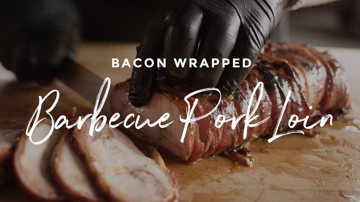 Bacon Wrapped Barbecue Pork Loin Recipe