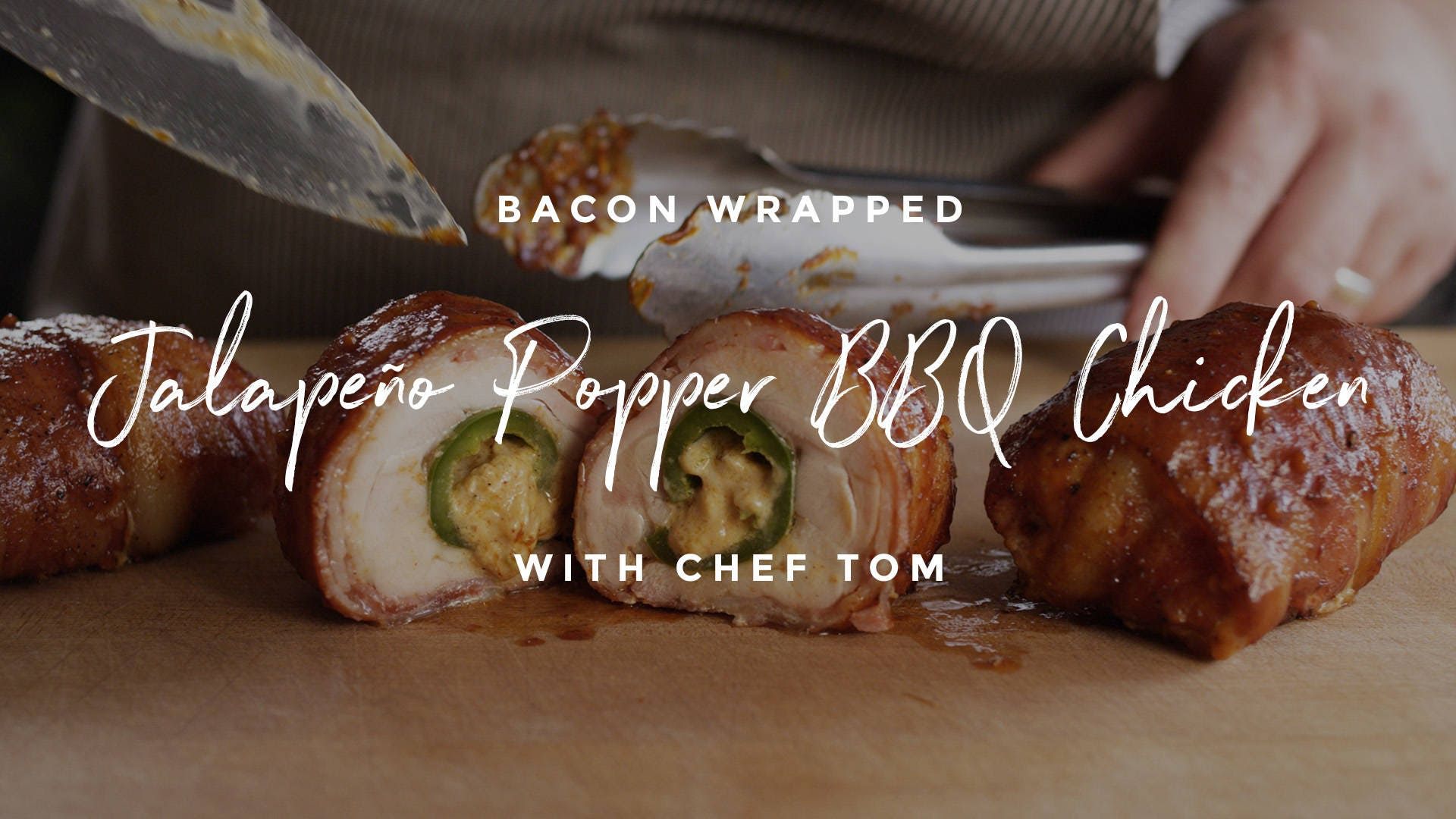 How to make Bacon Wrapped Jalapeño Popper Stuffed Barbecue Chicken
