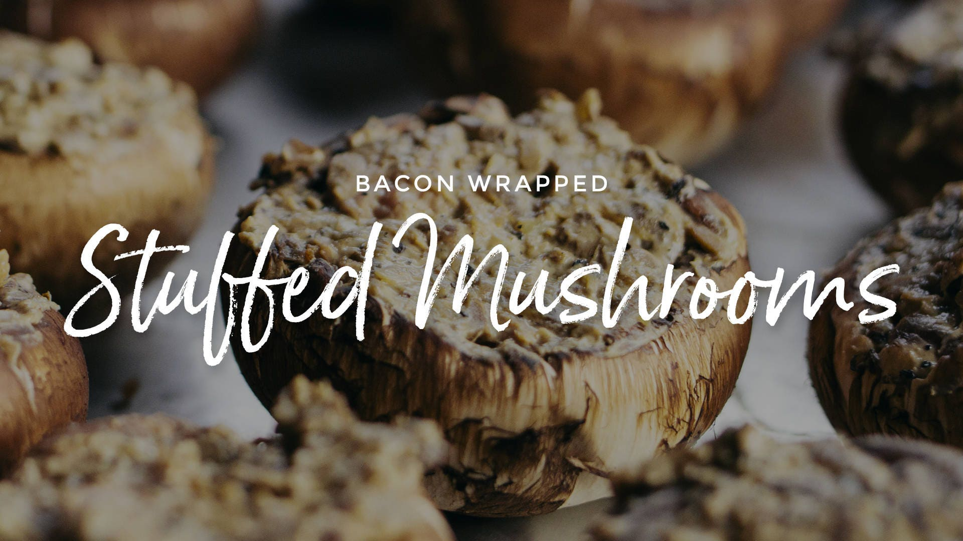 Bacon Wrapped Steak Stuffed Mushrooms Recipe