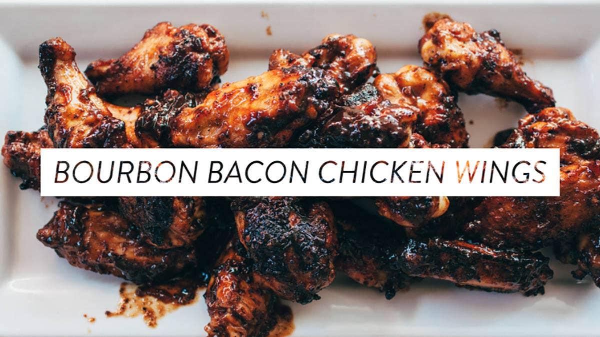 Recipe for Bourbon Bacon Chicken Wings
