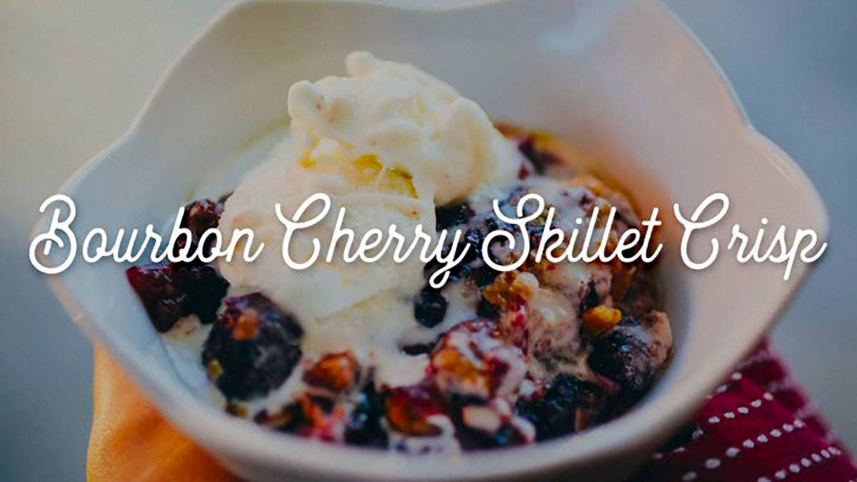 How to make Bourbon Cherry Skillet Crisp