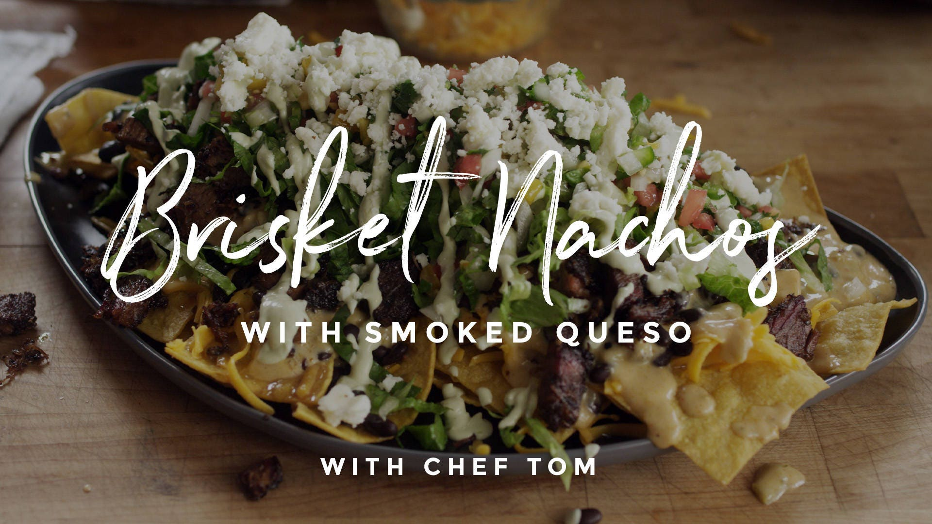 How to make Brisket Nachos with Smoked Queso