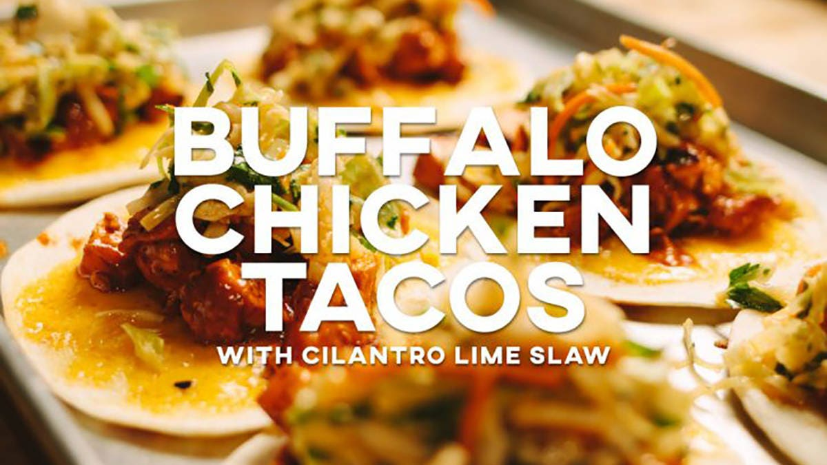 Buffalo Chicken Tacos with Cilantro Lime Slaw Recipe
