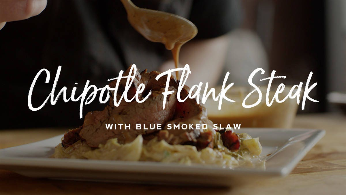 How to make Chipotle Flank Steak with Blue Smoked Slaw