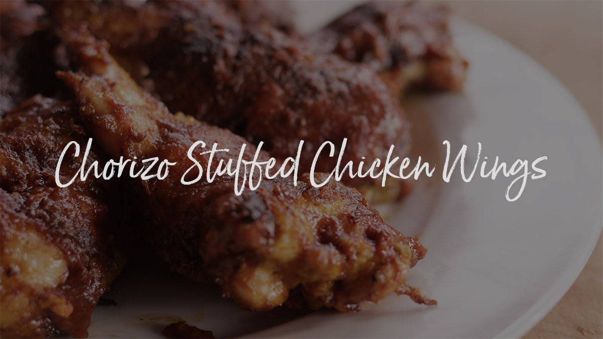 How to make Chorizo Stuffed Chicken Wings