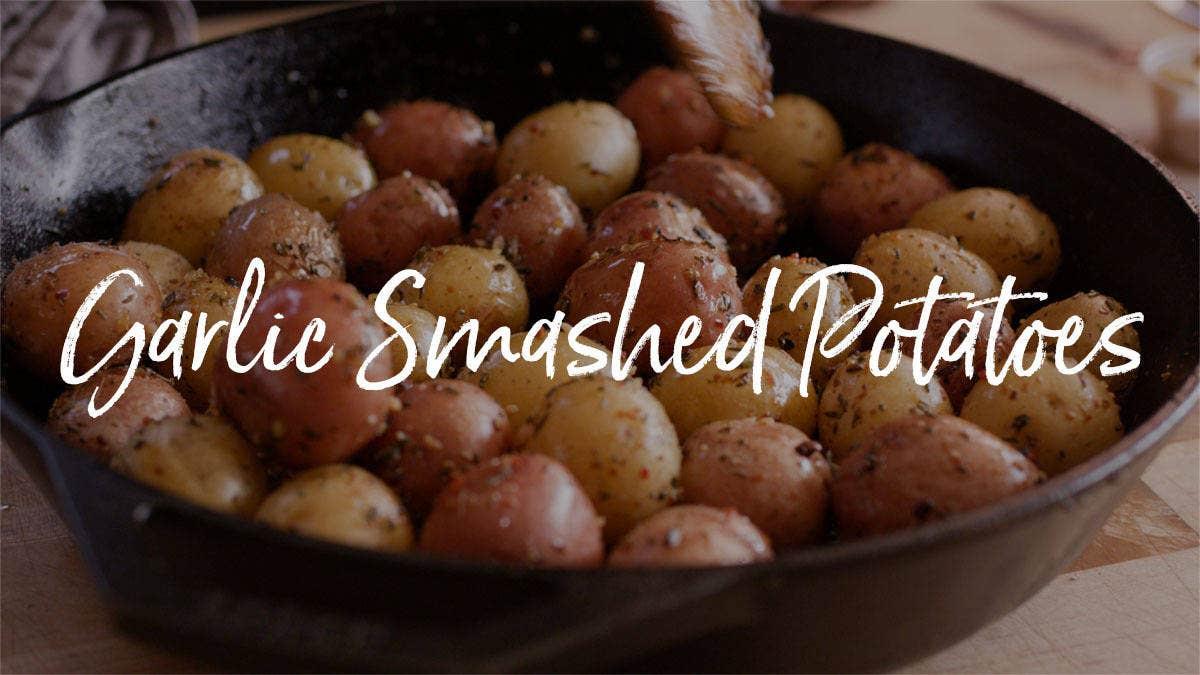 How to make Garlic Smashed Potatoes