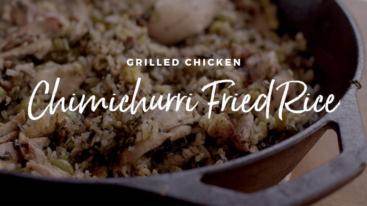 How to make Grilled Chicken Chimichurri Fried Rice
