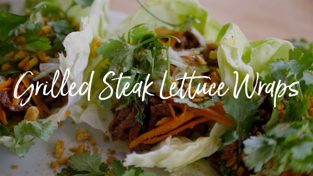 How to make Grilled Steak Lettuce Wraps
