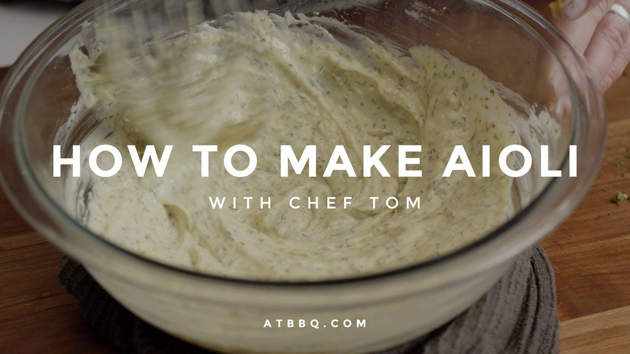 How to Make Grilled Lemon Dill Aioli