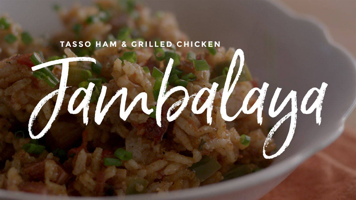 How to make Tasso Ham & Grilled Chicken Jambalaya