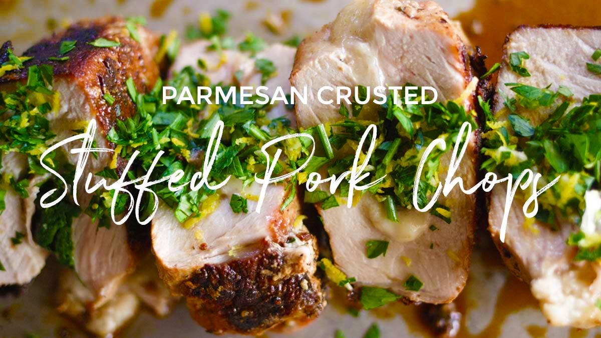 Parmesan Crusted Stuffed Pork Chops Recipe