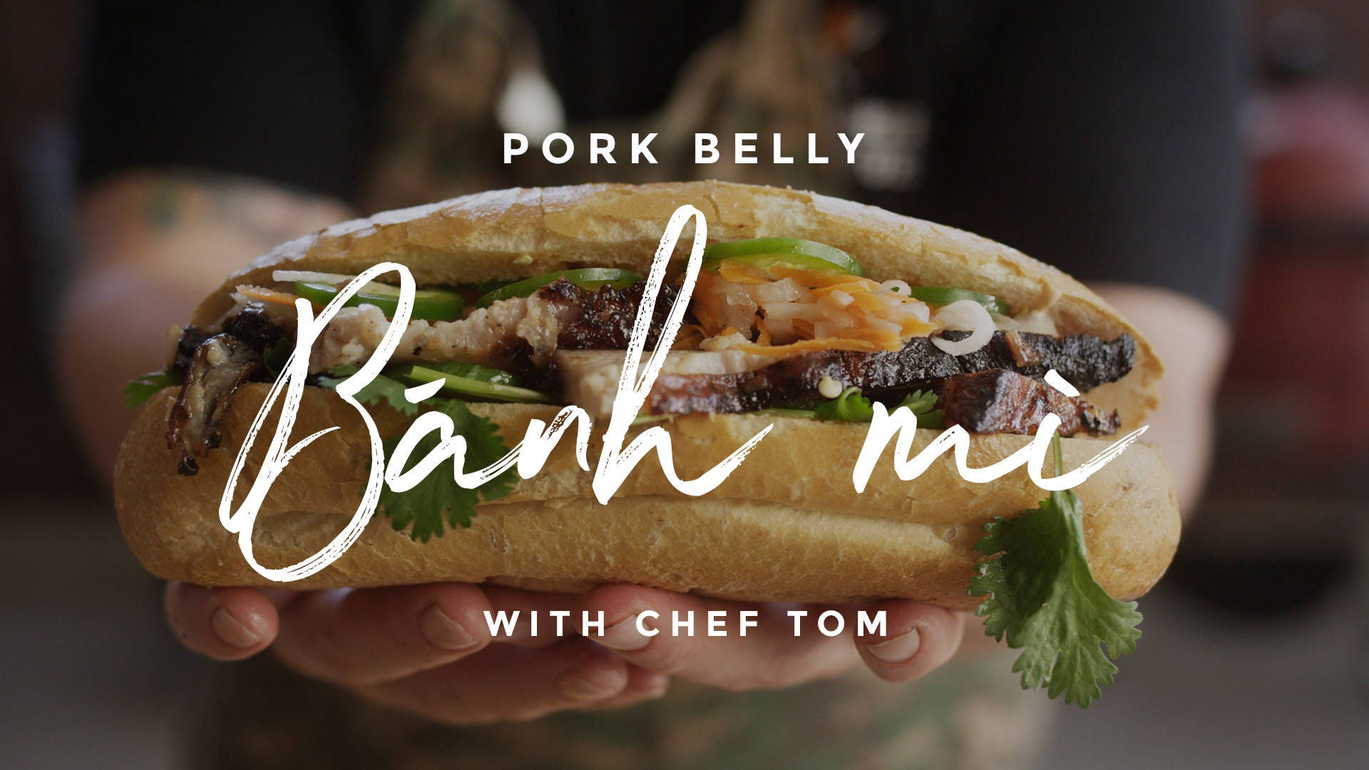 Pork Belly Banh Mi Sandwich Recipe