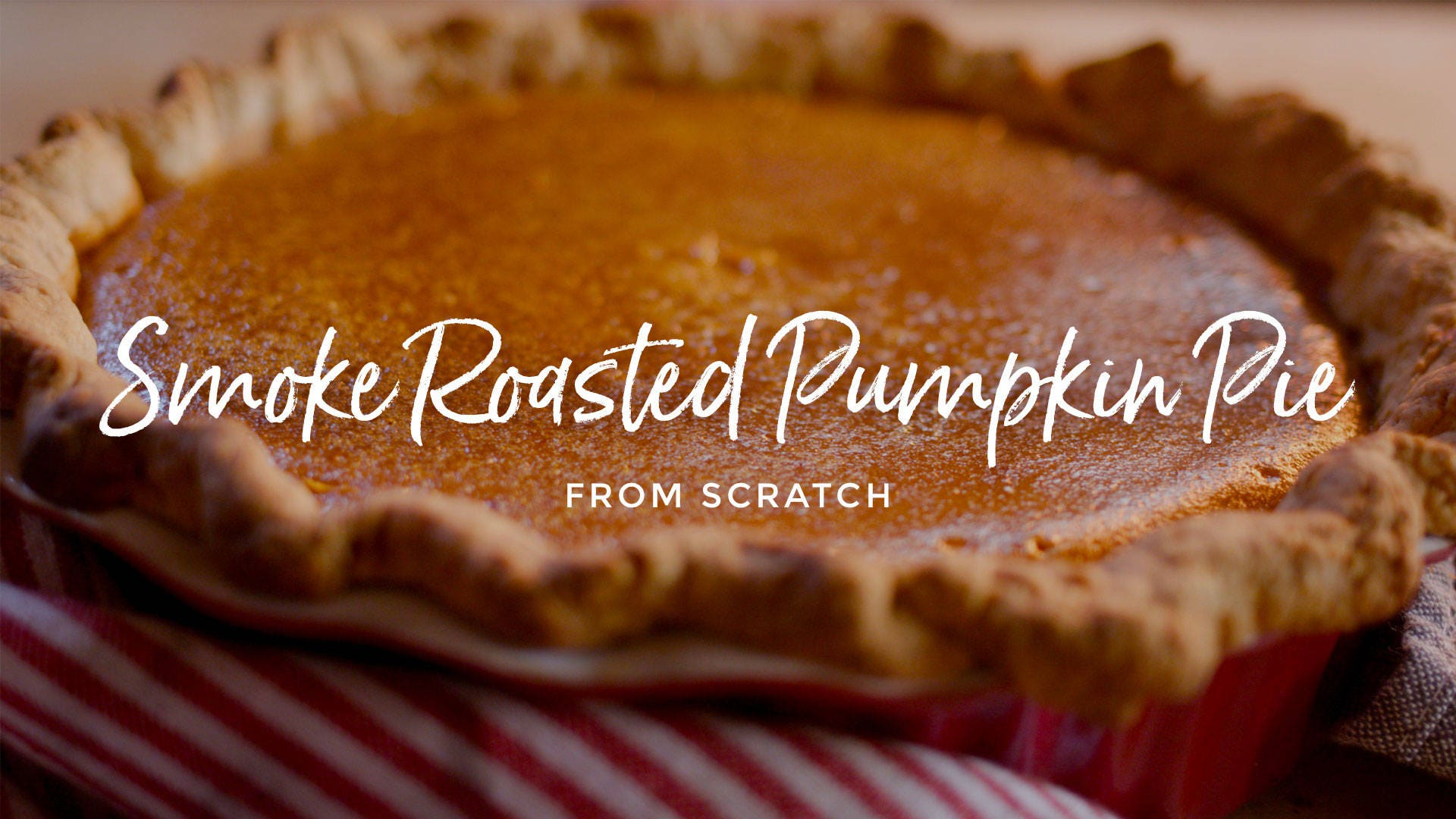 Smoke Roasted Pumpkin Pie Recipe