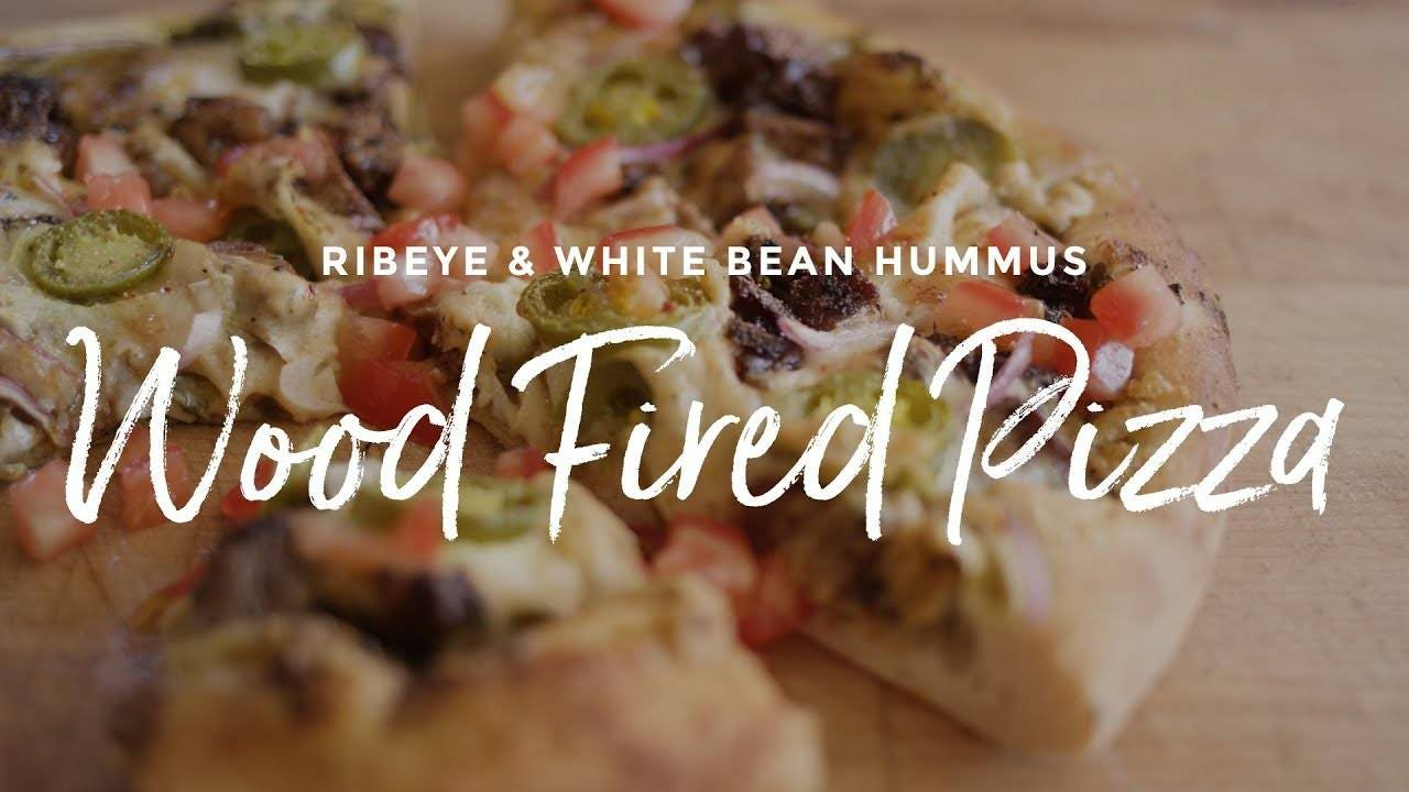 How to make Ribeye and White Bean Hummus Pizza