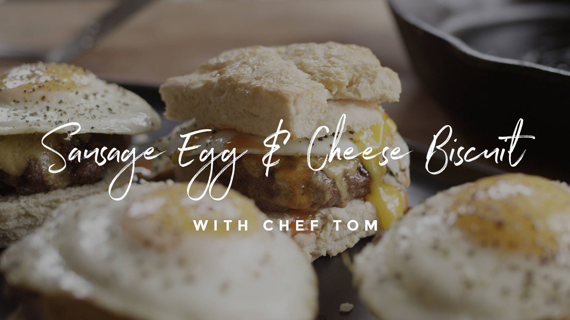 How to make Grilled Sausage Egg & Cheese Biscuit