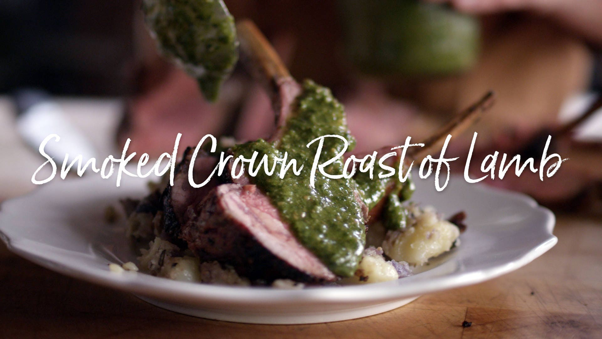 Recipe for Smoked Crown Roast of Lamb