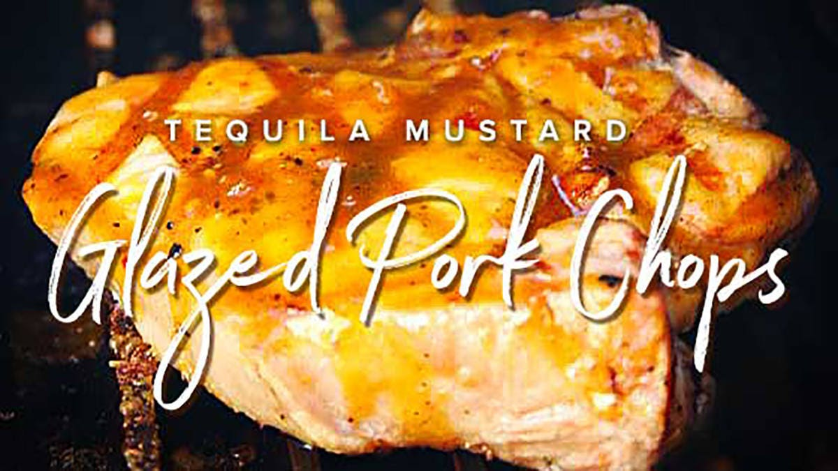 Tequila Mustard Glazed Pork Chops Recipe