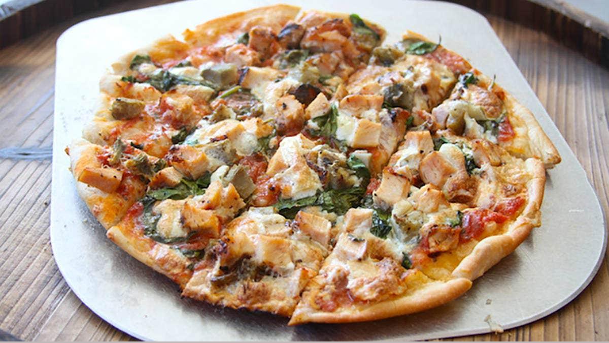 Chicken Artichoke Skillet Pizza Recipe