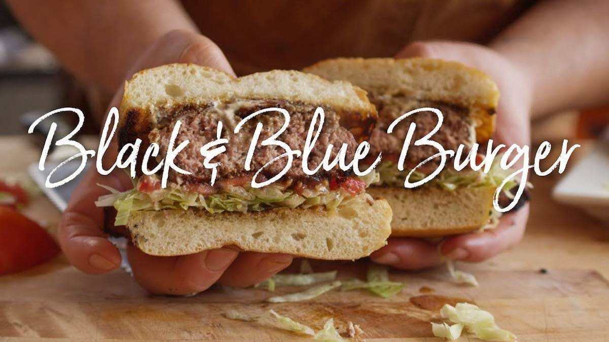 How to make Bacon Black and Blue Burger