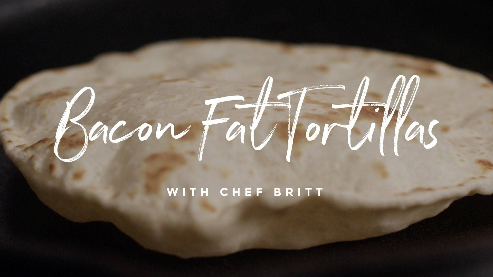 How to make Bacon Fat Flour Tortillas