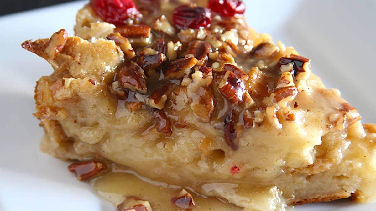 Recipe for Bourbon Pecan Bread Pudding