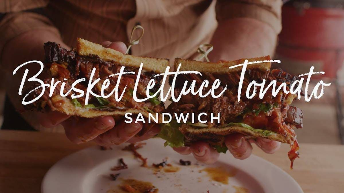 Recipe for Brisket Lettuce Tomato Sandwich