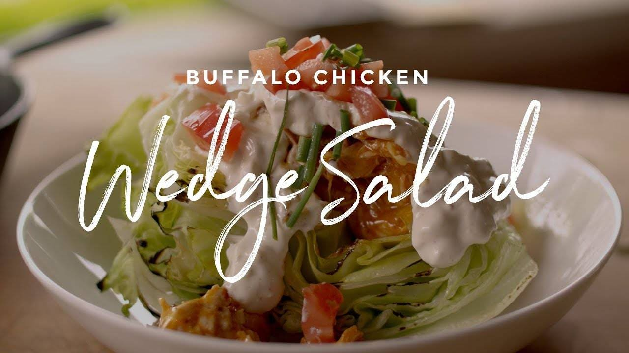 How to make Buffalo Chicken Wedge Salad