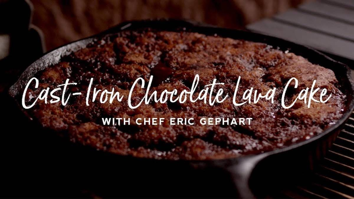 How to make Cast Iron Chocolate Lava Cake