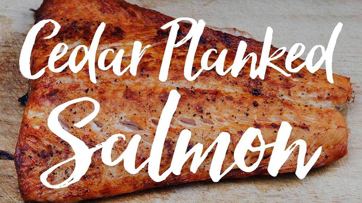 Mango-Jalapeño Cedar Planked Salmon