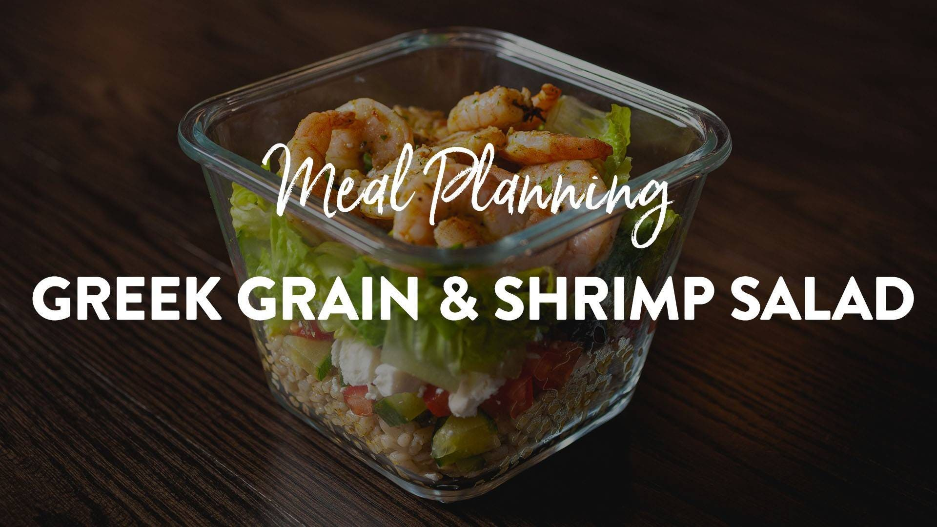 Greek Grain Salad with Shrimp Recipe