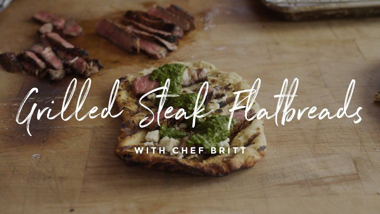 How to make Grilled Steak Flatbreads