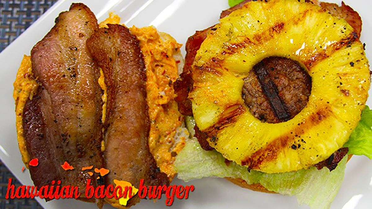 Hawaiian Bacon Burger Recipe