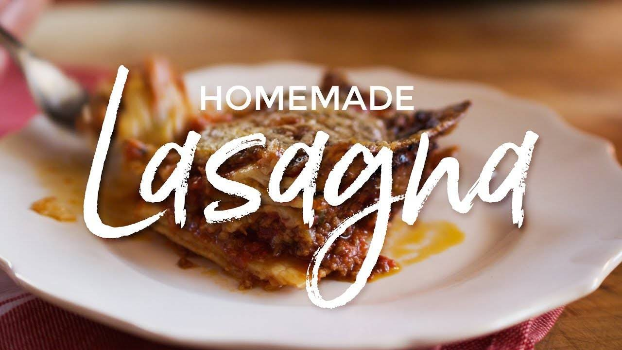 Recipe for Homemade Lasagna