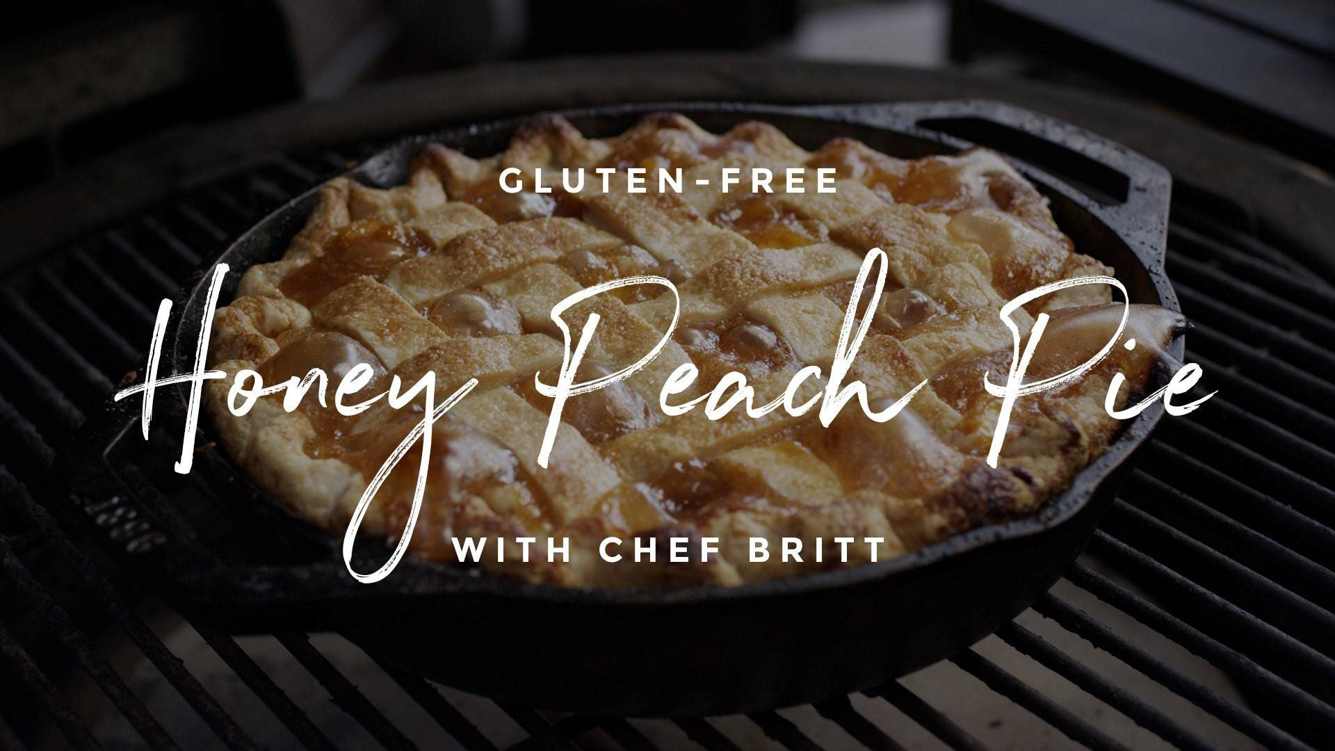 How to make Honey Peach Pie and Gluten-Free Pie Crust