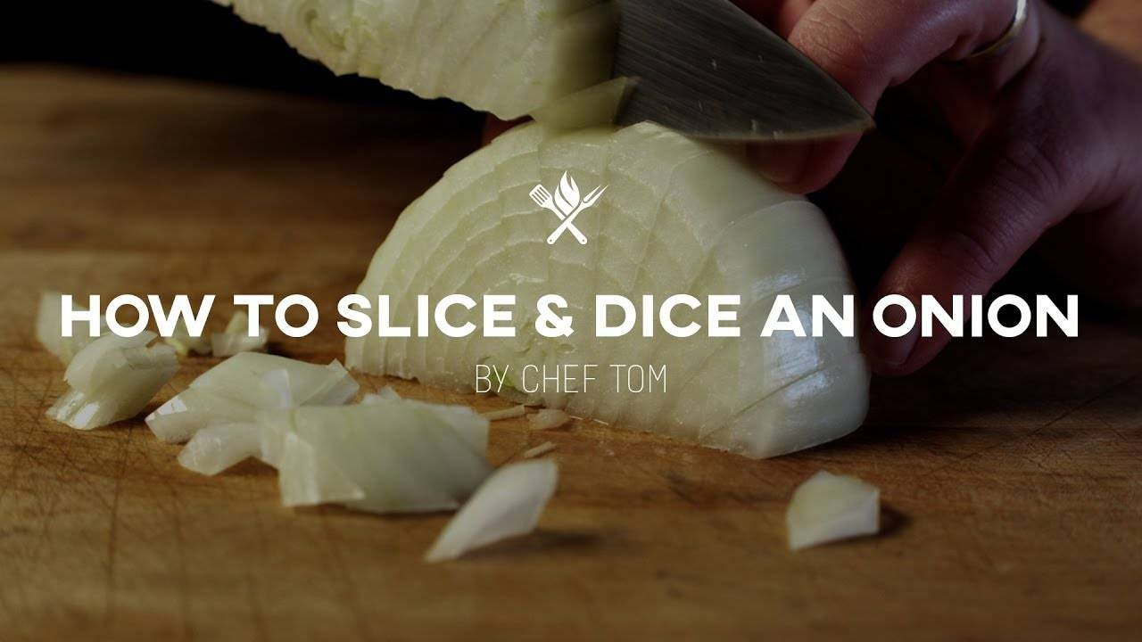 Easy way to Slice and Dice an Onion