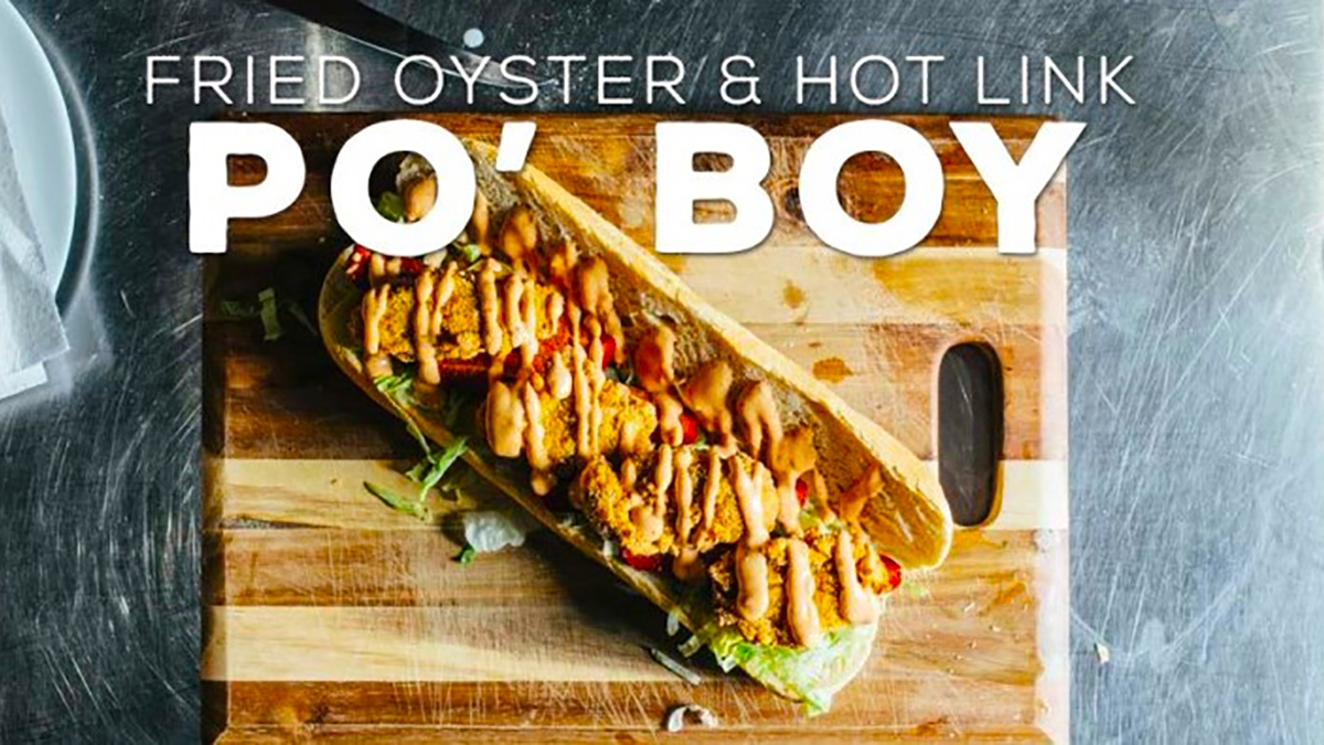 Fried Oyster & Hot Link Po' Boy Recipe