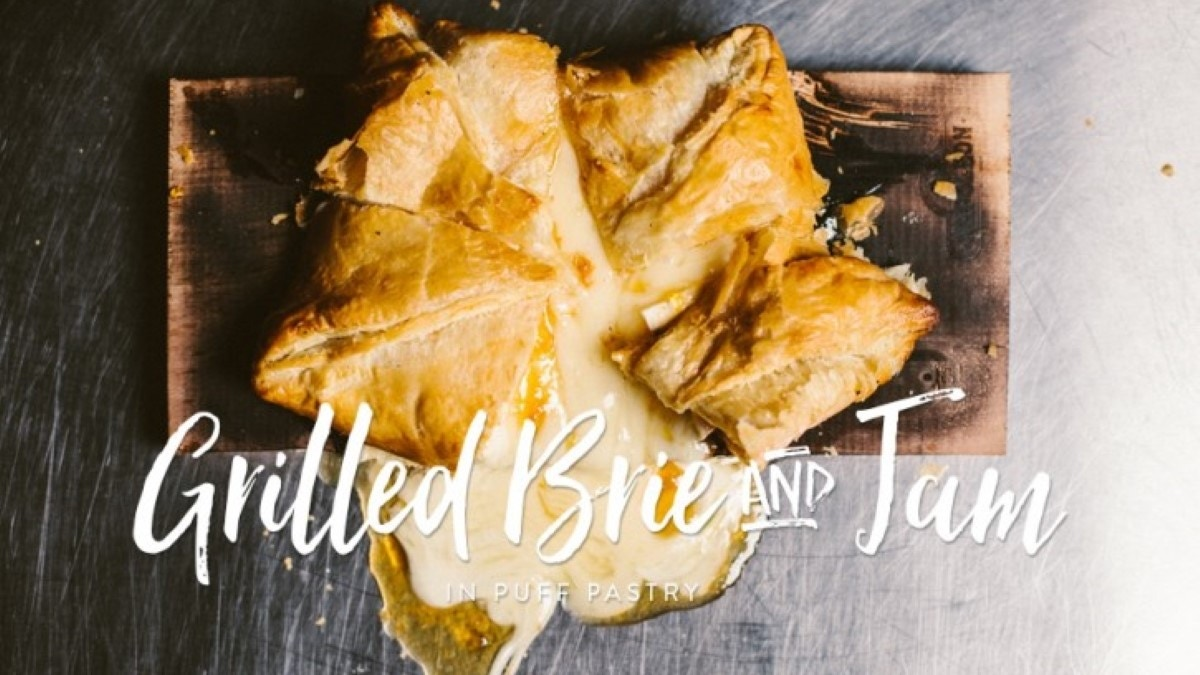 Grilled Brie and Jam in Puff Pastry Recipe
