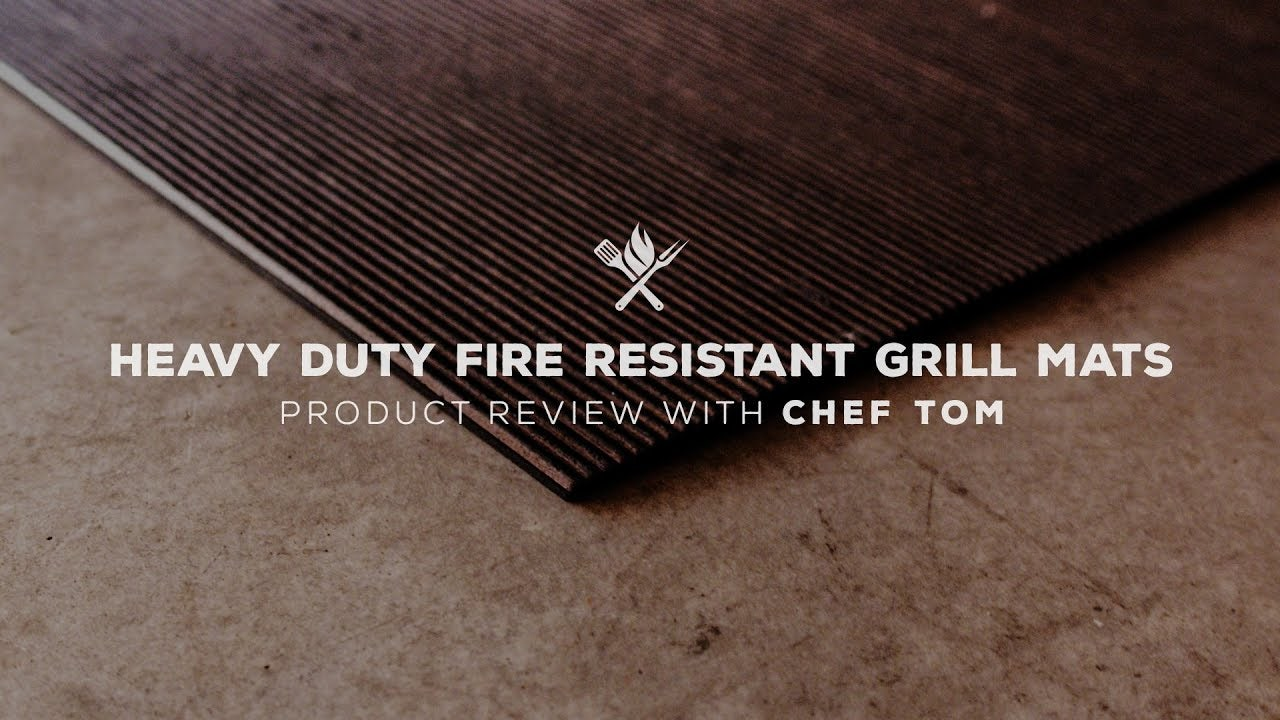 Heavy Duty Fire Resistant Grill Mats Overview