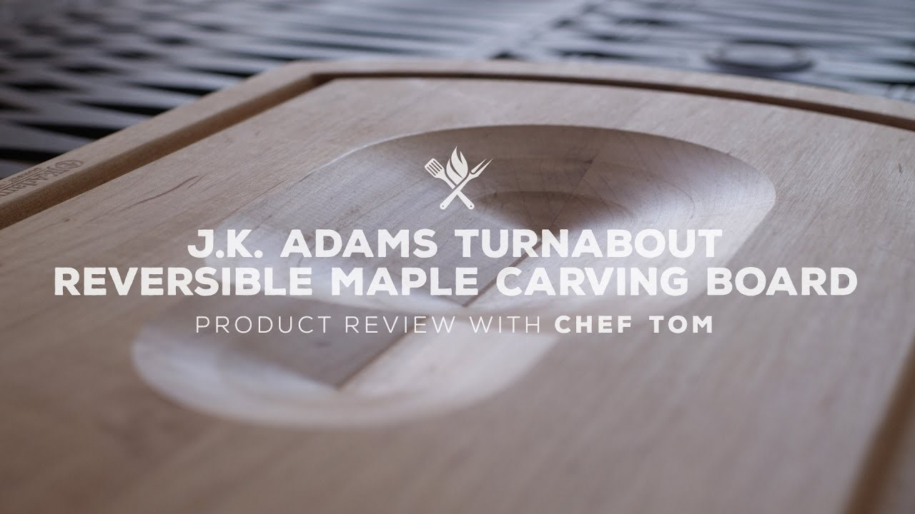 J.K. Adams Turnabout Reversible Maple Carving Board Overview