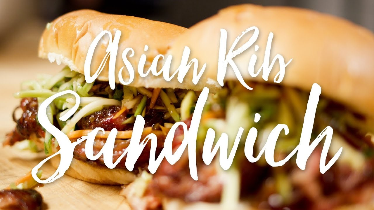 Asian Baby Back Rib Sandwich Recipe