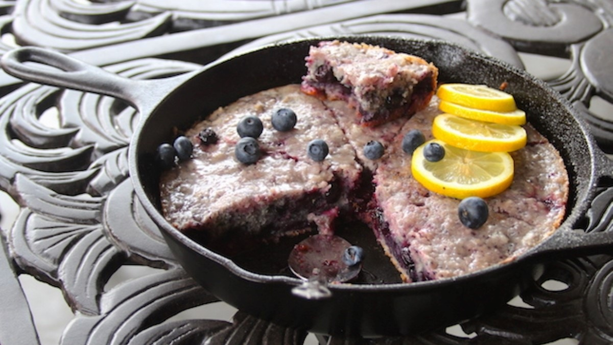 Blueberry Scones with Lemon Glaze Recipe