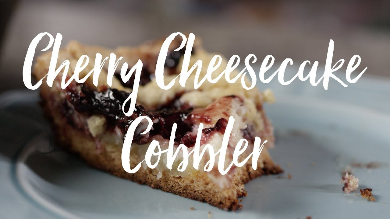 Cherry Cheesecake Cobbler Recipe