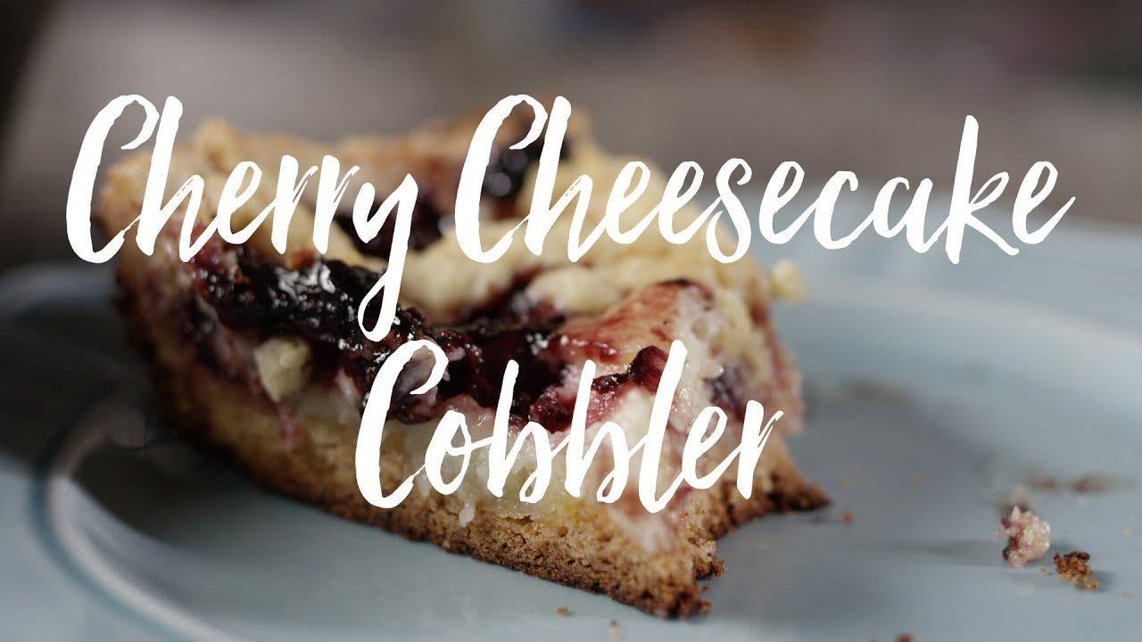 Cherry Cheesecake Cobbler Recipe