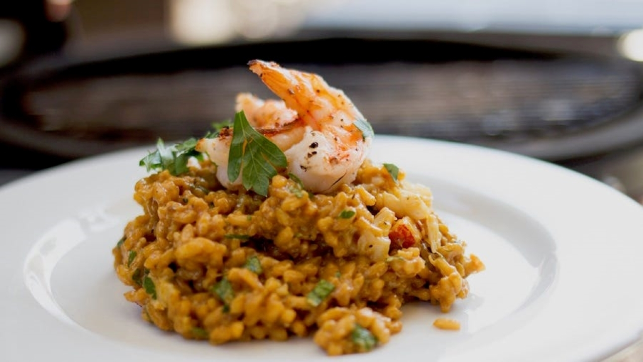 Cooking with Fire Episode 30: Seafood Risotto Recipe