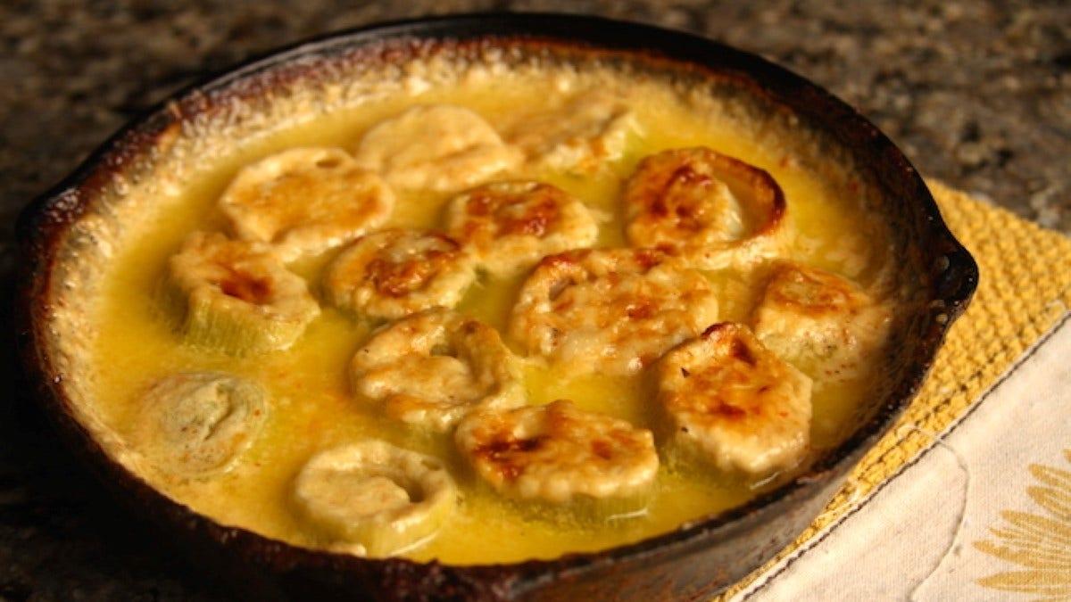 Creamy Baked Leeks Recipe